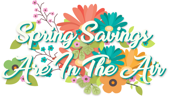 Spring Savings Are in the Air!